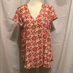 Papermoon Print Blouse Size Small - Cap Sleeve